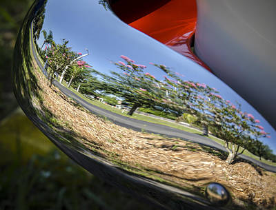 Photograph - Summer Car Show Reflection by Carolyn Marshall