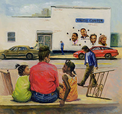 African-american Painting - Summer City Stoop by Colin Bootman