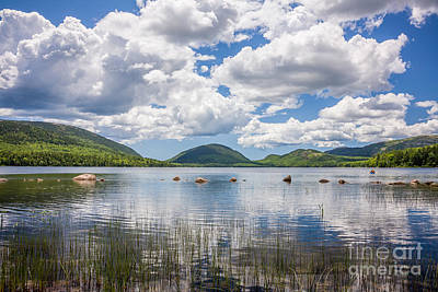 Photograph - Summer Clouds Over Eagle Lake In Acadia by Susan Cole Kelly