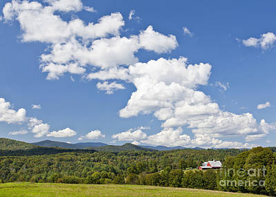 Photograph - Summer Cloudscape by Alan L Graham