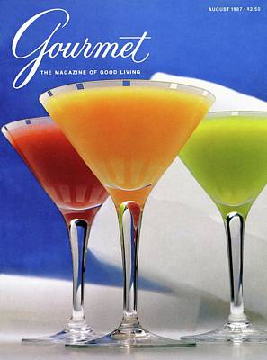 Alcohol Photograph - Summer Cocktails by Romulo Yanes