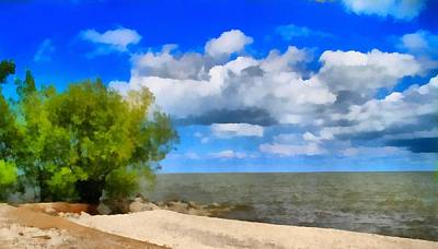 Ohio Painting - Summer Colors On The Beach by Dan Sproul