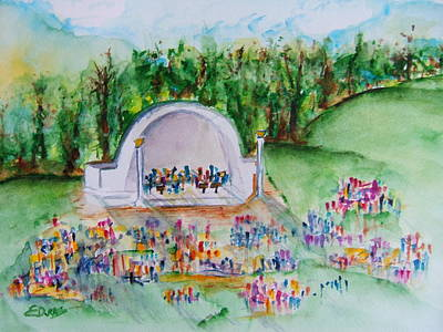Northern Kentucky Painting - Summer Concert In The Park by Elaine Duras
