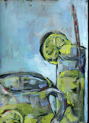 Lime Painting - Summer Day  2 by Pamela J. Wingard