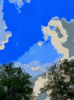 Cloudy Day Mixed Media - Summer Day From The Hammock by Dan Sproul