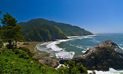 Summer Day On The Oregon Coast Art Print