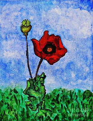 Painting - Summer Day Poppy by Sarah Loft
