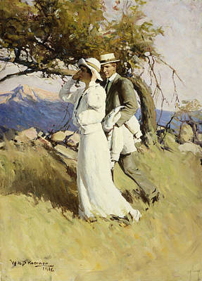 Women Together Painting - Summer Days by William Henry Dethlef Koerner
