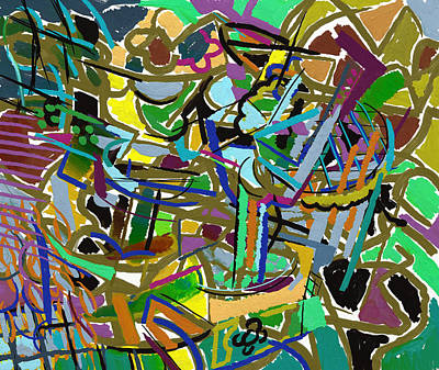 Digital Art - Summer Divertimento In Green by Clyde Semler