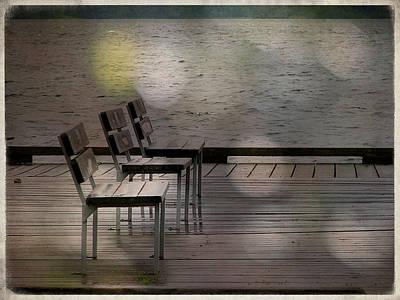 Summer Dock Waterfront Fine Art Photograph Art Print by Laura Carter