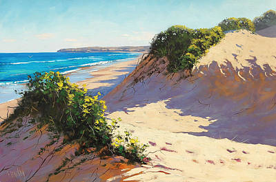 Beach Oil Painting - Summer Dunes by Graham Gercken