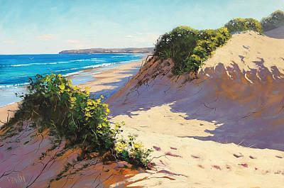Impressionism Paintings - Summer Dunes by Graham Gercken