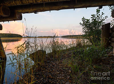 Photograph - Summer Evening At The Lake by Ismo Raisanen