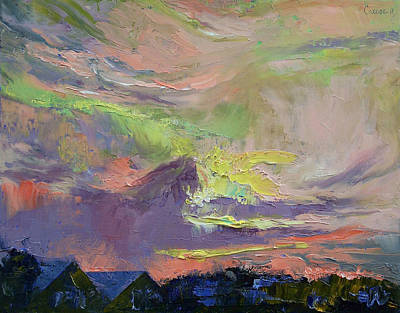 Impasto Oil Painting - Summer Evening by Michael Creese