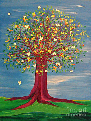 Summer Fantasy Tree Art Print