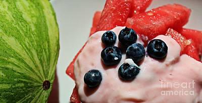 Summer Favorite Cool Snack - Fruit Art Print