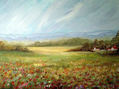 Summer Field At The Farm Art Print