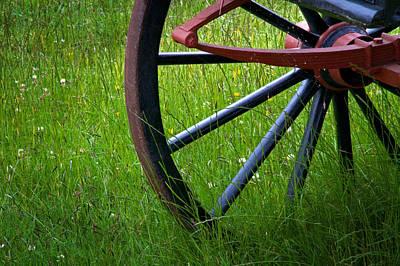 Wagon Wheels Photograph - Summer Field by Odd Jeppesen