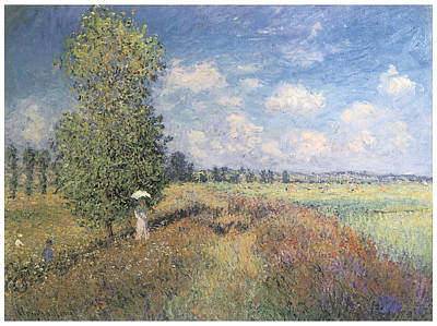 Summer Field Of Poppies Art Print by Claude Monet