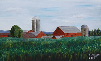 Painting - Summer Fields by Alan Mager