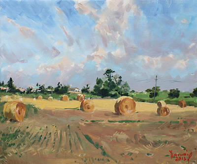 Georgetown Wall Art - Painting - Summer Fields In Georgetown On by Ylli Haruni