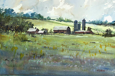 Silo Painting - Summer Fields by Ryan Radke