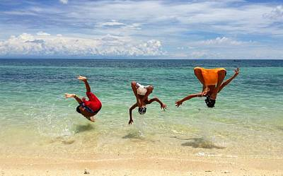Backflip Photograph - Summer Flipping by Dickson Shia