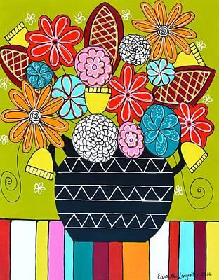 Painting - Summer Flowers by Elizabeth Langreiter