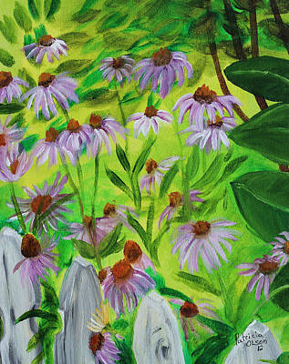 Summer Flowers In Peculiar Mo. Art Print by Patricia Olson
