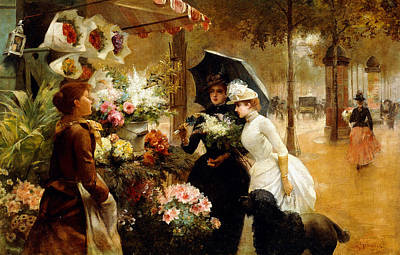 Paws Painting - Summer Flowers by Louis de Schryver