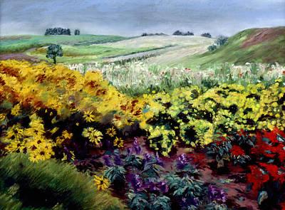 Pastel - Summer Flowers by Nancy Yang