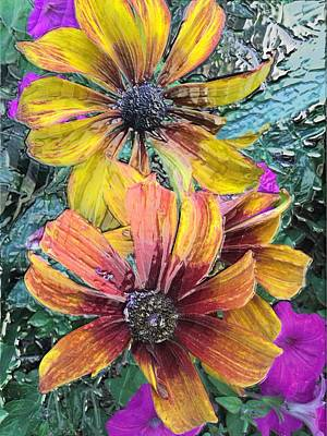 Summer Flowers One Art Print