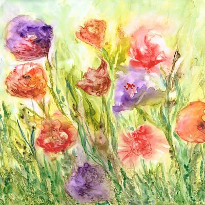 Painting - Summer Flowers by Rosie Brown
