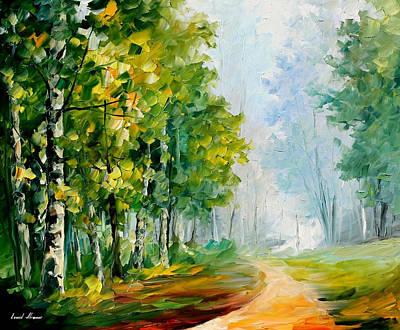 Summer Forest 2 - Palette Knife Oil Painting On Canvas By Leonid Afremov Original