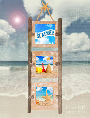 Summer Frame Art Print by Amanda Elwell