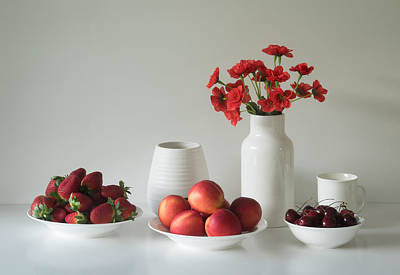 Cherry Flowers Photograph - Summer Fruits by Jacqueline Hammer