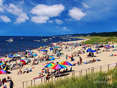 Art Print featuring the photograph Summer Fun At Oval Beach by Kathi Mirto