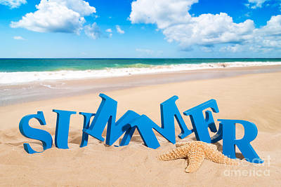 Words Background Photograph - Summer Fun by Amanda Elwell