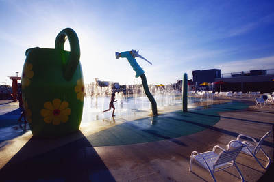 Summer Fun In The Water Park Art Print by George Oze