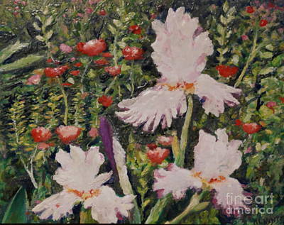 Painting - Summer Garden Faces by Al Hunter
