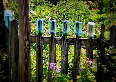 Louis Armstrong - Summer Garden Jars by Marysue Ryan