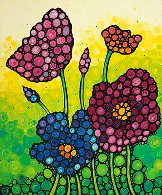 Summer Garden Art Print by Sharon Cummings