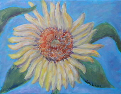 Summer Garden Sunflower Art Print by Patty Weeks