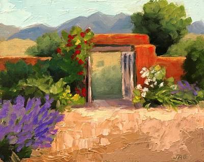 Southwest Gate Painting - Summer Gate by Julia Grundmeier