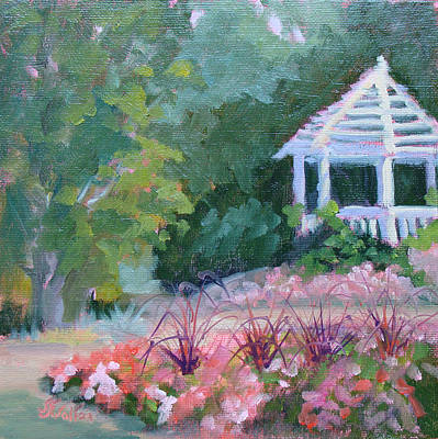 Painting - Summer Gazebo by Judy Fischer Walton