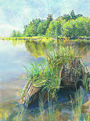 Painting - Summer Grasses by Nick Payne