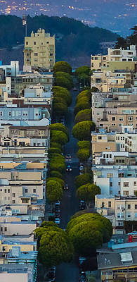 Summer Green On Lombard Street Art Print