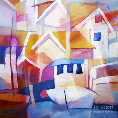 Painting - Summer Harbour by Lutz Baar