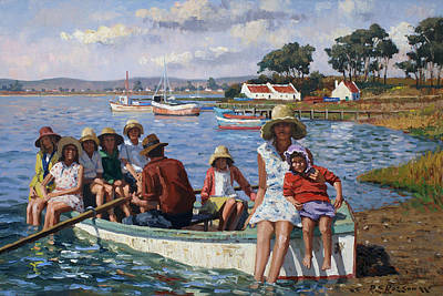 Painting - Summer Hats by Roelof Rossouw