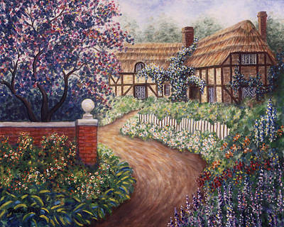 Garden Path Painting - Summer Haven by Linda Mears
